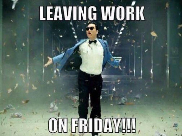 psy leaving work on a friday