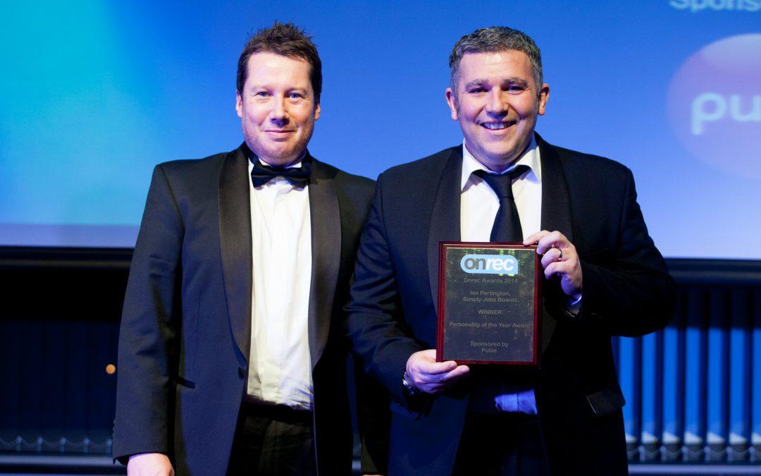 "Simpy Jobs Boards Director Ian Partington wins ""Personality of the Year"" award"