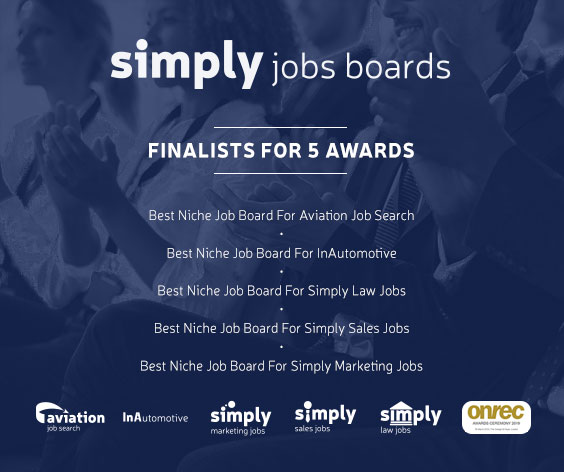 Simply Marketing Jobs shortlisted for 2019 Onrec Award